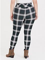 Studio Premium Ponte Slim Fix Pixie Pant - Dark Green Plaid, PLAID, alternate