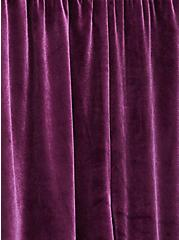 Burgundy Purple Velvet Culotte Pant, HIGHLAND THISTLE, alternate