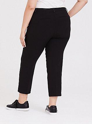 Black Skinny Crop Tuxedo Pant, DEEP BLACK, alternate