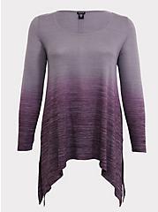 Purple Hacci Dip-Dye Sharkbite Tunic, HIGHLAND THISTLE, hi-res