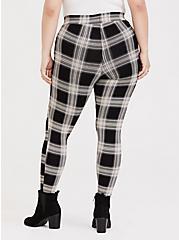 Plus Size Premium Legging - Plaid Black & White, MULTI, alternate