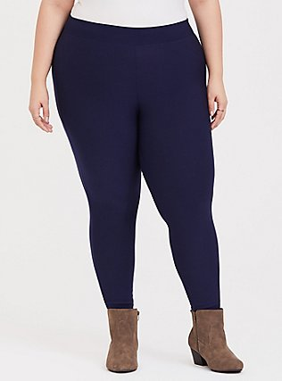 Platinum Legging - Fleece Lined Navy, BLUE, hi-res