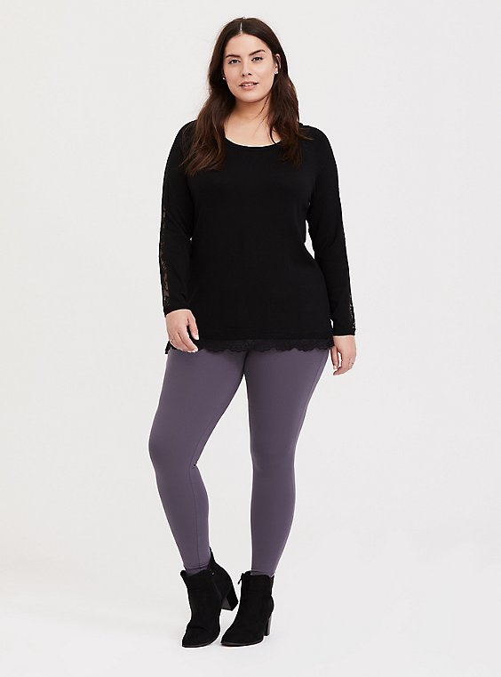 Premium Legging - Dusty Purple, , hi-res