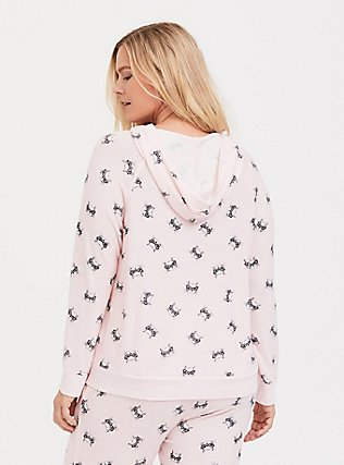 Light Pink Cat Sleep Hoodie, MULTI, alternate