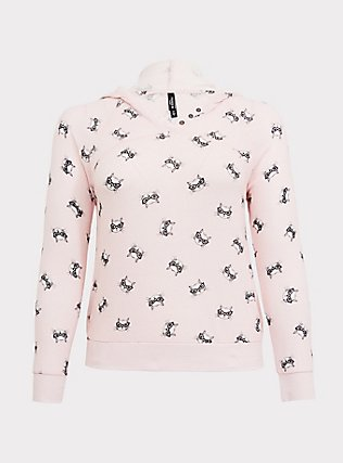 Light Pink Cat Sleep Hoodie, MULTI, flat