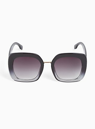 Black Ombre Square Sunglasses, , hi-res