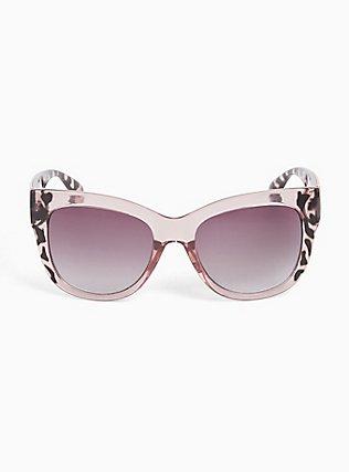Pink Leopard Cat Eye Sunglasses, , hi-res