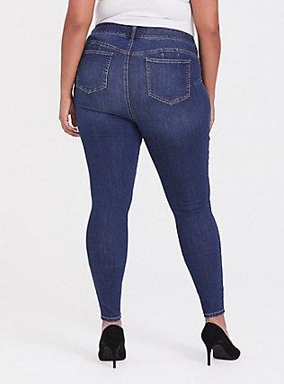 Bombshell Skinny Jean - Premium Stretch Medium Wash, THAMES, alternate
