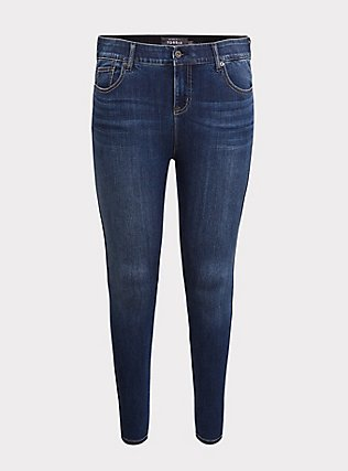 Bombshell Skinny Jean - Premium Stretch Medium Wash, THAMES, flat