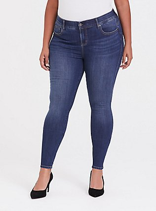 Bombshell Skinny Jean - Premium Stretch Medium Wash, THAMES, hi-res