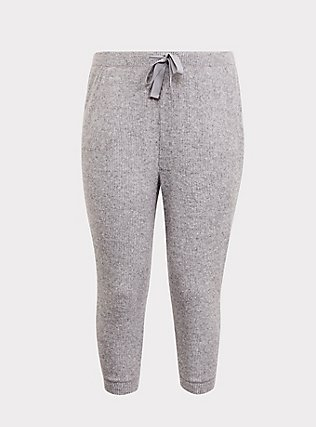 Grey Hacci Sleep Pant, GREY, flat