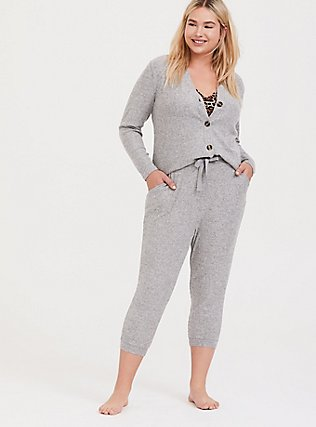 Grey Hacci Sleep Pant, GREY, hi-res