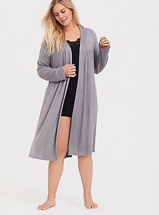 Grey Hacci Sleep Robe, GREY, hi-res
