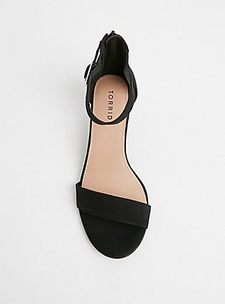 Black Faux Suede Ankle Strap Demi Wedge (WW), BLACK, alternate
