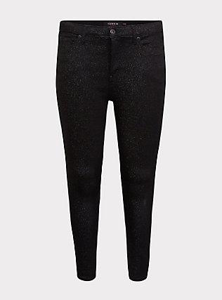 Sky High Skinny Jean - Premium Stretch Black Sparkle, SPARKLE, flat