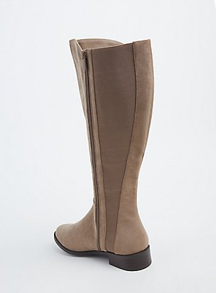 Taupe Faux Suede Knee-High Boot (WW), BROWN, alternate