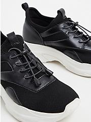 Plus Size Black Bungee Mesh Sneaker (WW), BLACK, alternate