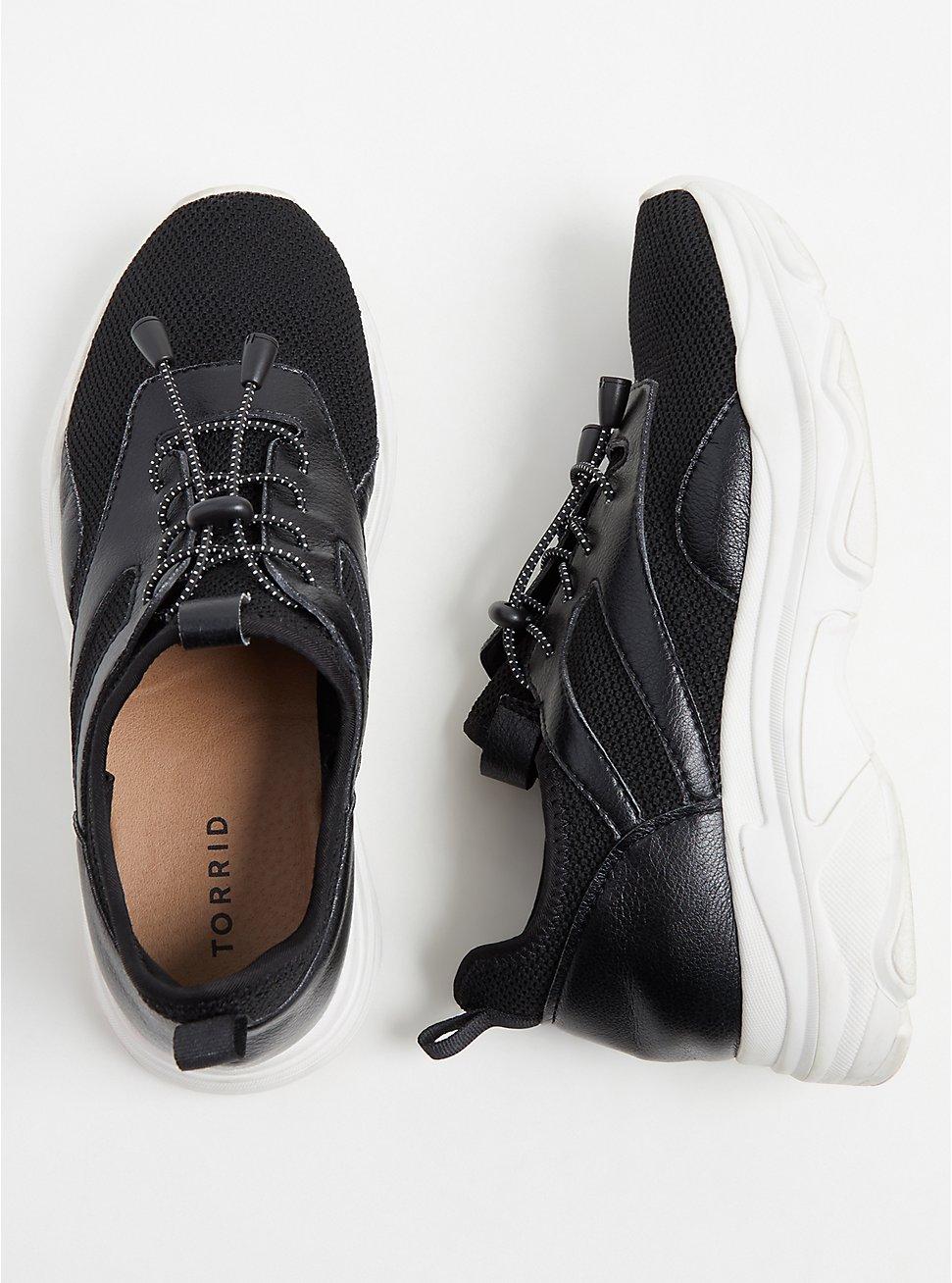 Black Bungee Mesh Sneaker (WW), BLACK, hi-res