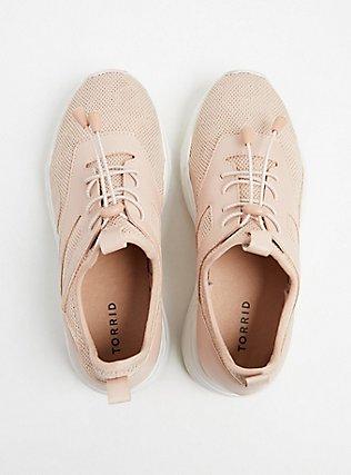 Blush Pink Mesh Bungee Sneaker (WW), BLUSH, alternate