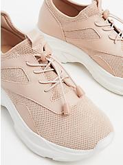 Plus Size Light Pink Mesh Bungee Sneaker (WW), BLUSH, alternate
