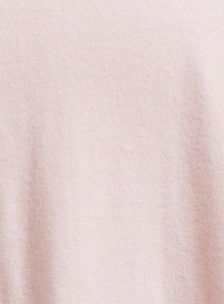 Plus Size Super Soft Plush Light Pink Dolman Long Sleeve Top, PALE BLUSH, alternate