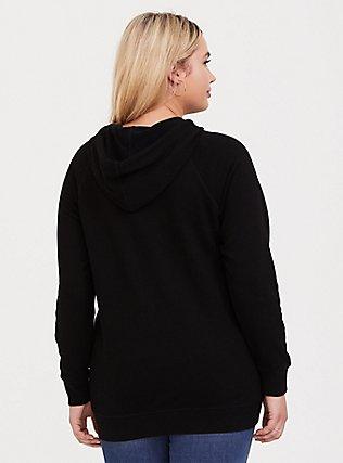Nope Floral Black Hoodie, DEEP BLACK, alternate