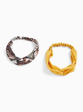 Sankeskin Print Twist Front Headband Pack - Pack of 2, , hi-res