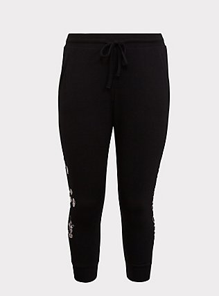 Disney Mickey Mouse One and Only Black Jogger, DEEP BLACK, flat