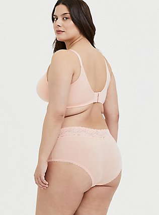 Plus Size Peach 360° Back Smoothing™ Push-Up Plunge Bra, PEACH MELBA, alternate