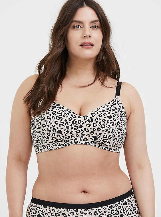 Leopard Heart 360° Back Smoothing™ Lightly Lined Everyday Wire-Free Bra, , hi-res