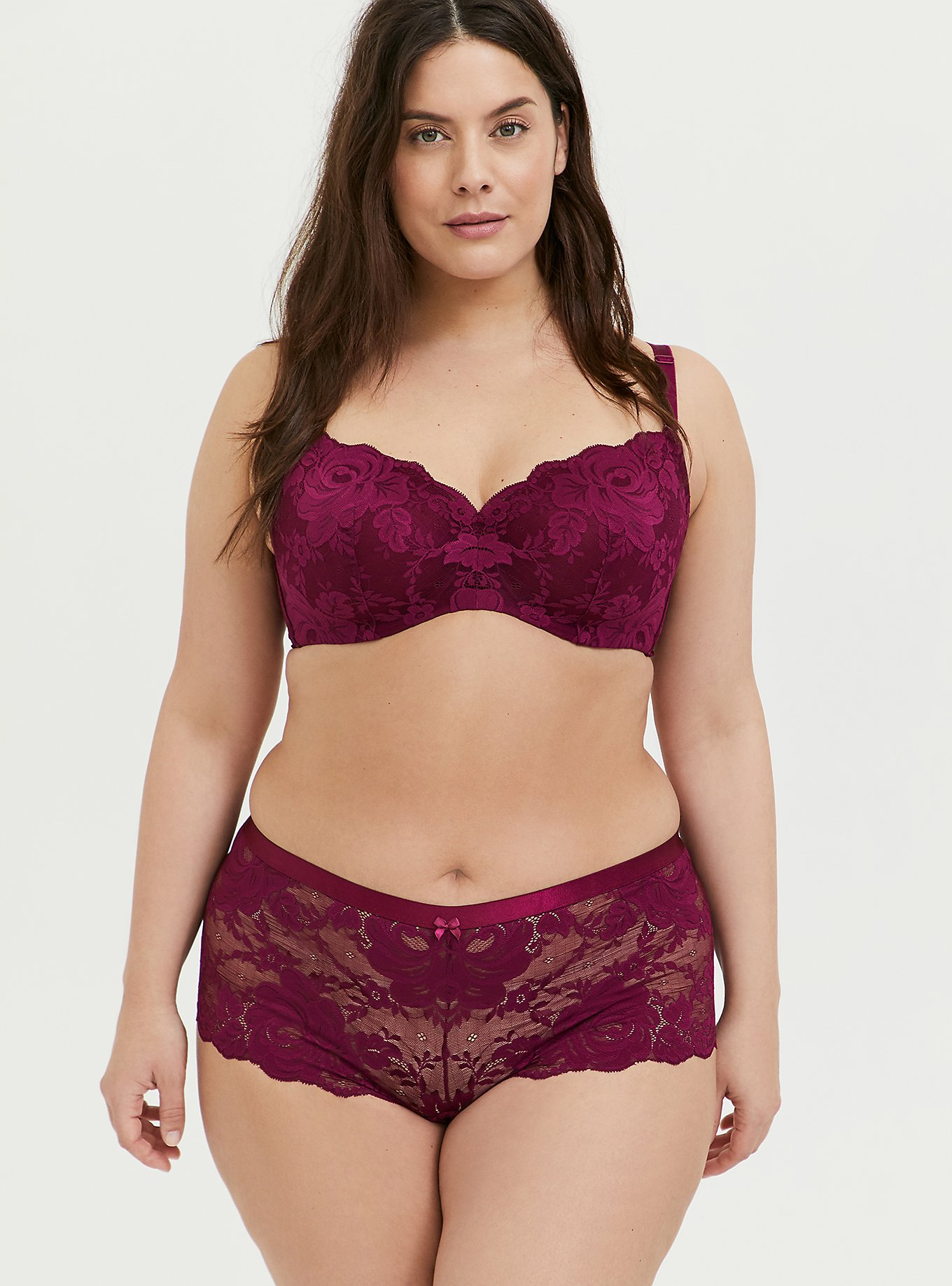 Lace 360 Back Smoothing™ Full Coverage Balconette Bra and Cheeky Panty, , hi-res