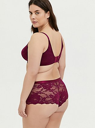 Berry Purple Lace 360° Back Smoothing™ Lightly Lined Full Coverage Balconette Bra, NAVARRA, alternate