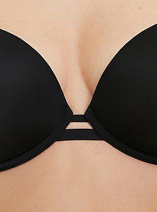 Black 360° Back Smoothing™ Lightly Lined Plunge Bra, RICH BLACK, alternate