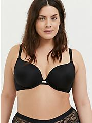 Black 360° Back Smoothing™ Lightly Lined Plunge Bra, RICH BLACK, hi-res