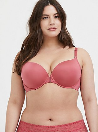 Rose Pink Front Clasp 360° Back Smoothing™ Lightly Lined T-Shirt Bra, BAROQUE ROSE, alternate