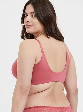 Plus Size Rose Pink Front Clasp 360° Back Smoothing™ Lightly Lined T-Shirt Bra, BAROQUE ROSE, hi-res