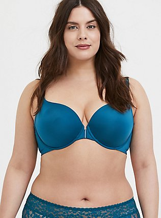 Teal Blue Front Clasp 360° Back Smoothing™ Lightly Lined T-Shirt Bra, , hi-res