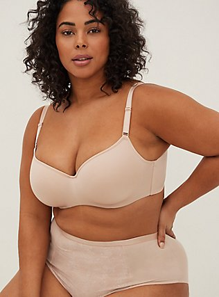 Nude 360° Back Smoothing™ Lightly Lined Full Coverage Balconette Bra, ROSE DUST, hi-res