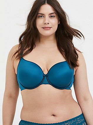 Teal Blue 360° Back Smoothing™ Lightly Lined Full Coverage Bra, , alternate