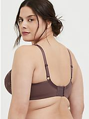 Light Raisin Brown Lace Maximum Support Lightly Lined Full Coverage Bra, BROWN, alternate