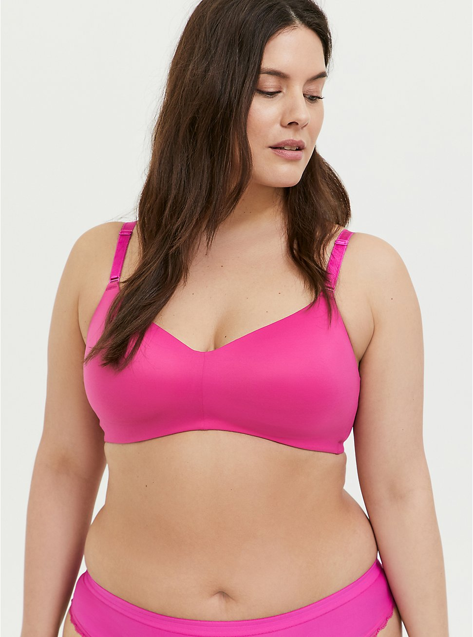 Hot Pink 360° Back Smoothing™ Lightly Lined Everyday Wire-Free Bra, , hi-res