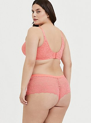 Plus Size Coral 360° Back Smoothing™ Lightly Lined Lace Everyday Wire-Free Bra, , alternate