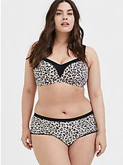 Plus Size Nude Leopard Heart Lightly Lined Underwire Shine Sports Bra, , alternate