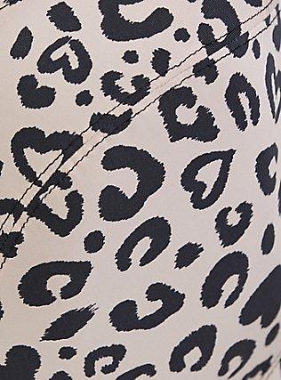 Plus Size Nude Leopard Heart Lightly Lined Underwire Shine Sports Bra, , alternate