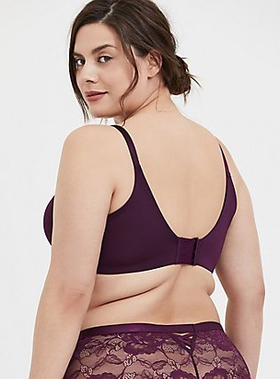 Plus Size Grape Purple 360° Back Smoothing™ Push-Up T-Shirt Bra, POTENT PURPLE, alternate