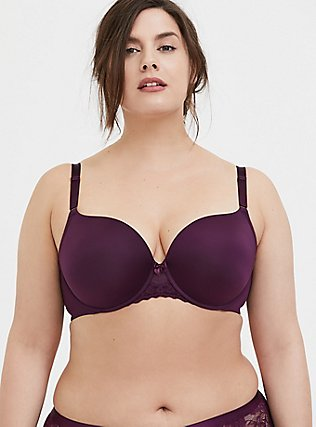 Grape Purple 360° Back Smoothing™ Push-Up T-Shirt Bra, POTENT PURPLE, hi-res