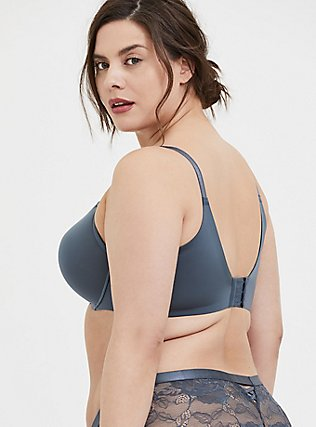 Plus Size Stone Grey 360° Back Smoothing™ Push-Up T-Shirt Bra, , alternate
