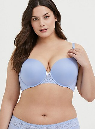 Periwinkle Blue 360° Back Smoothing™ Push-Up T-Shirt Bra, , hi-res