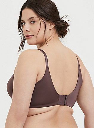 Plus Size Raisin Brown 360° Back Smoothing™ Lightly Lined T-Shirt Bra, BROWN, alternate