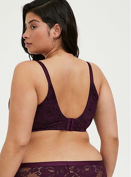 Plus Size Grape Purple 360° Back Smoothing™ Lightly Lined T-Shirt Bra , POTENT PURPLE, alternate